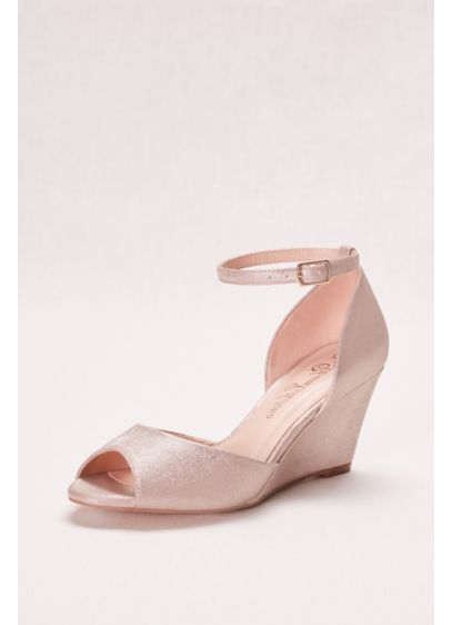 Blossom Grey (Peep Toe Wedge with Ankle Strap)
